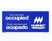 1976 Hughes Air West Seat Reservation - Occupied Sign