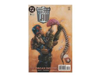 Vintage Judge Dredd: Legends of the Law, 3. The Organ Donors. Comic Book. February 1995. DC Comics. Mint.
