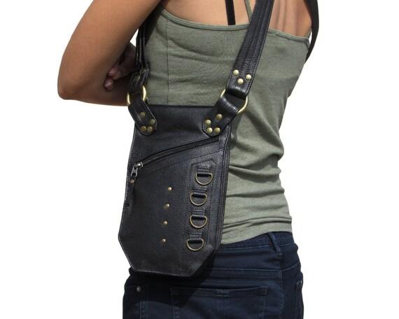 leather holster utility belt bag festival bag shoulder bag. Black Bedroom Furniture Sets. Home Design Ideas
