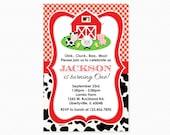 Farm Birthday Party Invitation, Barnyard Birthday Party Invitation, Boy, Girl, Printable Invitation, PERSONALIZED