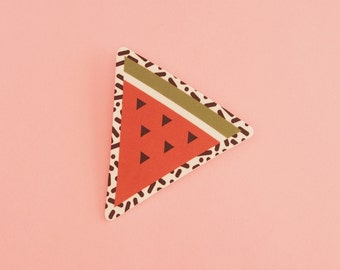 Watermelon Brooch // Geometric Brooch // Tropical Brooch // Graphic Brooch // Shrink Plastic // Memphis Inspired Large