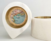 Ring Dish With Custom Travel Map
