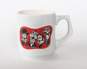 Vintage 1950's Barbershop Quartet Graphic Coffee Mug! Very Unusual and Cool!