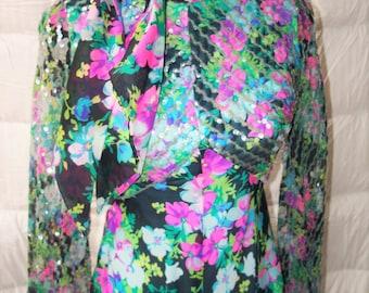 Vintage 1960s YAGA NY Chiffon Maxi Dress