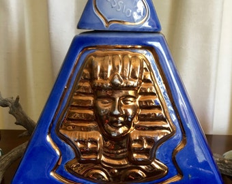 Vintage Jim Beam Pyramid Decanter Collectible Indiana Indianapolis 1970