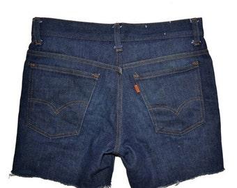 ON SALE Vintage Circa 1977 LEVIS Levi'S Cut Off Shorts Jeans Size 30 Student 784 Cut Unisex
