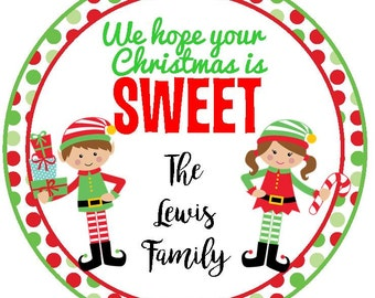 Christmas gift stickers - christmas cookies, christmas baked goods, holiday cookies, holiday treats, holiday gift, christmas gift tag