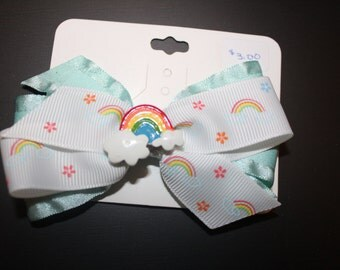 Rainbow Hair Bow