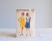 1960s dress pattern ... Mod 2-tone scooter Dress short or 3/4 sleeves bib tuxedo Space Age shift Dress Butterick 4293 sz 14/34