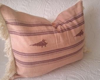 Boho Southwestern Pillow Cover - Vintage Mayan Textile - 16x20