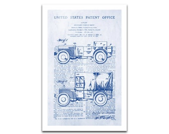Military Jeep Patent Art Giclee on archival matte paper