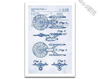 Star Trek USS Enterprise Constitution Class Starship NCC-1701 Patent Art Giclee on archival matte paper