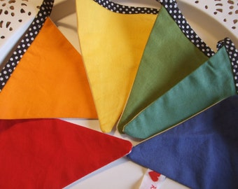 Bright Colors Flag Bunting, Rainbow, Montessori, Waldorf, Homeschool, Nursery Bedroom Decor, Boy Girl, Gift, Birthday Party, Happy Colors