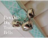Light Aqua Training Bells, Paw Bells, Dog Potty Trainer,  Instructions included