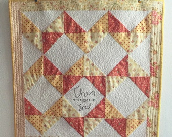 Then Sings My Soul Mini Quilt Table Topper - Free Shipping