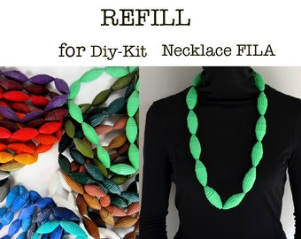 REFILL for the DIY-Kit: Necklace with Beads of corrugated paper