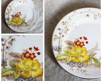 Beautiful little vintage floral cake plate