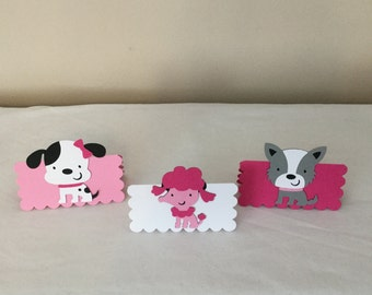 Pink Puppy Goodie Bag Toppers
