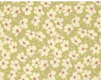 ON SALE Gypsy Caravan Green Daisy Floral Amy Butler Floral  Quilt Fabric by the 1/2 yard #86l