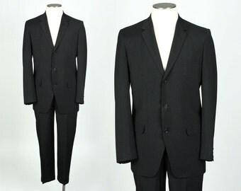 vintage 1960s mod suit • size 38 40 • slim fit lightweight mens suit