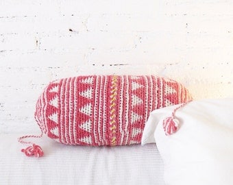 Pillow Crochet Marrakech  -  Pink Triangle