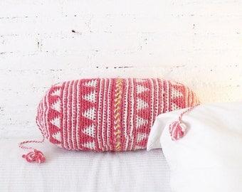 Pillow Crochet Marrakech  -  Pink Triangle