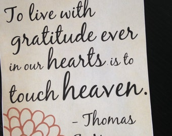 Thomas S. Monson Quote// Gratitude