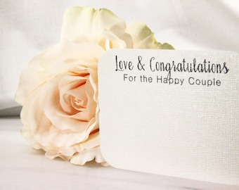 Wedding Advice Cards / Love & Congratulations for the happy couple - bride and groom newlyweds well wishes guestb bridal shower