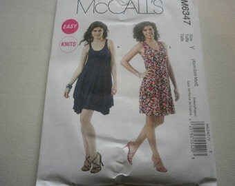 Pattern Ladies Dress 2 Styles Sizes 4 to 14 McCalls 6347 A