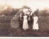 Four in a Field - Vintage Photograph - Vernacular - Ephemera (A)