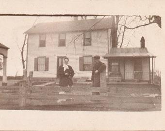 The Farmer and His Wife - Vintage Photograph - RPPC - Postcard - Vernacular - Ephemera (A)