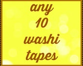 Pick 10 whole rolls of Assorted washi tapes - Any sizes/patterns 10 rolls washi tape of your choice -craft supplies -planner washi tape