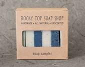 Men's Soap Sampler - All Natural Soap, Handmade Soap, Cold Process Soap, Unscented Soap, Vegan Soap, Men's Soap