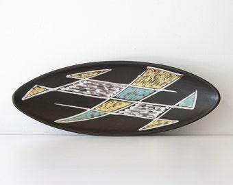 Vintage Mid Century Modern Holm Sorensen - Burgundia Pottery Bowl - Soholm Bornholm Denmark