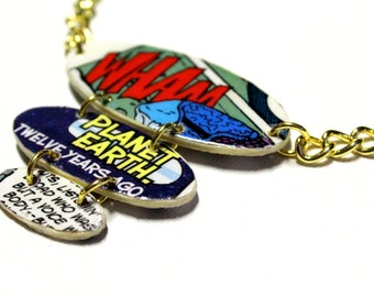 Tiered Oval Comic Book Necklace