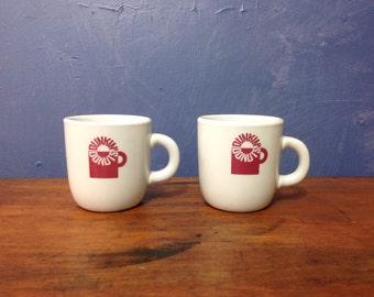 Dunkin' Donuts Mugs, Dunkin' Donut Cups, Vtg Coffee Cups, Mayer China, Vtg Dunkin Donuts, Restaurant China,