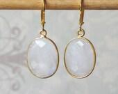 Outlander Inspired Moonstone Earrings, Georgian Jewelry