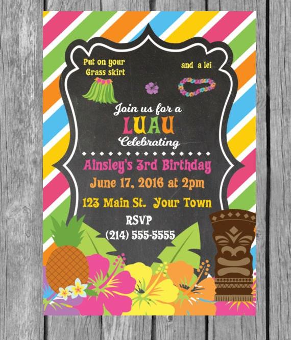 Hawaiian Invitation Hawaiian Theme Party By MomNeedsCoffee