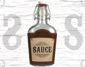 8oz Custom Glass Flask - Sauce - XXX - Moonshine - Prohibition - Personalized Flask - Bachelor Party Gift - Unique Gift - 21st birthday