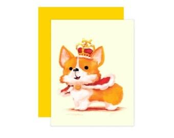 Royal Corgi Blank Card