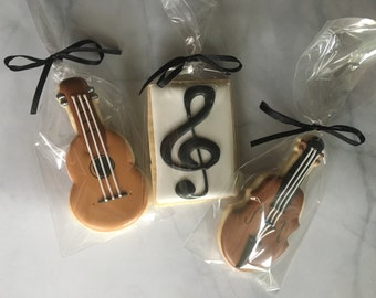 Sweet Symphony Musical Instrumental Sugar Cookie Collection