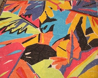 Vintage Colorful Fabric (almost 4 Yds)