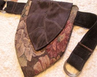 Tribal Boho Elven Leaf Festival Utility Tapestry Pocket Belt
