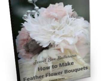 Feather Bouquet Tutorial - Feather Bouquet, feather flower tutorial, fabric flower tutorial
