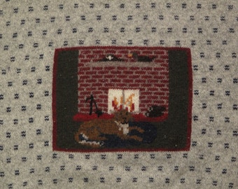 womens vintage Woolrich pictorial sweater