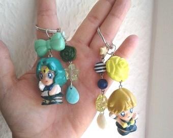 Sailor Moon Keychains - Sailor NEPTUNE & URANUS - Figure keychain - Sailor Scout Gear