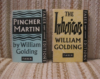 A Pair of William Golding Novels - The Inheritors and Pincher Martin - Faber Paper Covered Editions