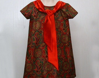 Girls Clothing,Girls Tie Dress, Girls School Dress ,Girls Portrait Dress, Girls Dress Sizes 5,6 & 7 only