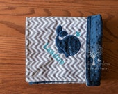 Whale Personalize Minky Baby Blanket - Whale Applique - Choice of Colors