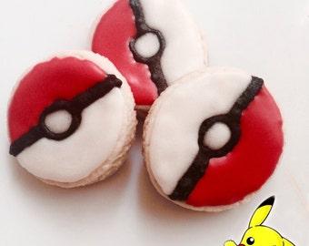 Pokemon ball Sugar Cookies, 1 dozen